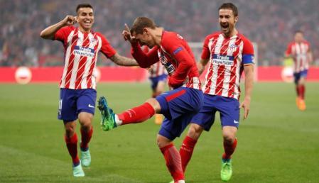 L'esultanza di Griezmann e di tutto l'Atletico Madrid | numerosette.eu