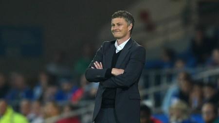 Ole Gunnar Solskjaer sulla panchina dello United