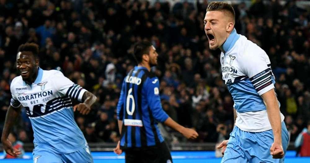 Milinkovic Savic esulta per il gol che ha deciso la Coppa Italia   Numerosette Magazine