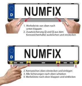 Montage Kennzeichenverstärker numfix EU KC