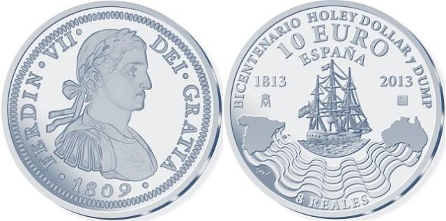 10 euro bicentenario holey dollar