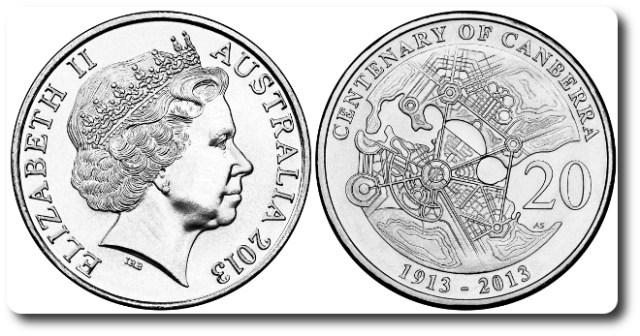 20 centavos 2013 Australia