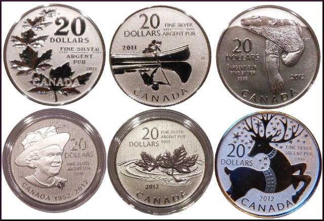 20 dolares plata canada