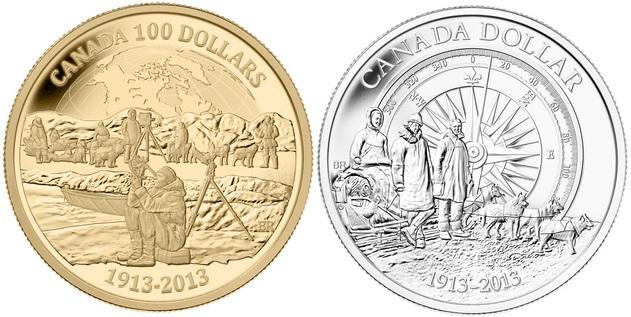 monedas canada expedicion al artico