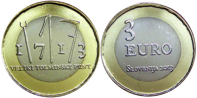 3 euros eslovenia 2013