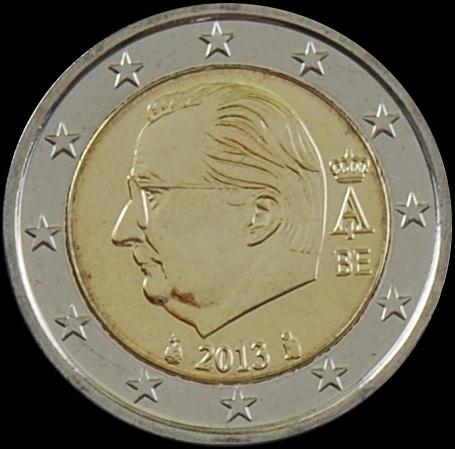 Imagen de la moneda de 2 euros en la que se aprecia la nueva marca de ceca.