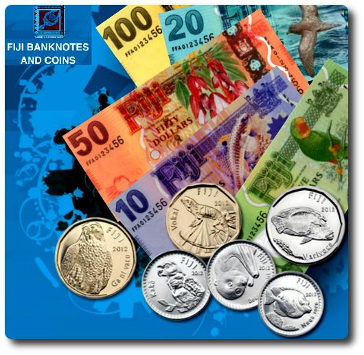 monedas y billetes de Fiji