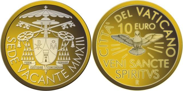 10 euro vaticano sede vacante 2013
