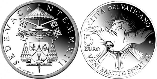 Sede vacante 2013 5 euro plata