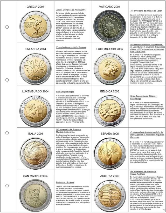 hoja euros conmemorativos 1