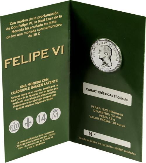 30 Euro Felipe VI blister parte interior