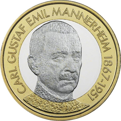 El anverso de la moneda cuenta con el retrato del presidente Carl Gustaf  Emil Mannerheim e9028430b52