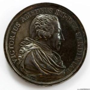 Medaille de Savoie en argent 1789 Victor Amedée III