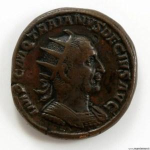 Double sesterce de Trajan Dece