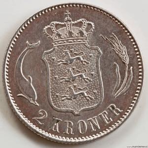 Danemark 2 kroner 1875