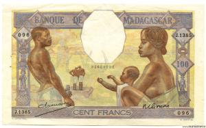 Madagascar 100 F (ND) signé GONON - DEJOUANY