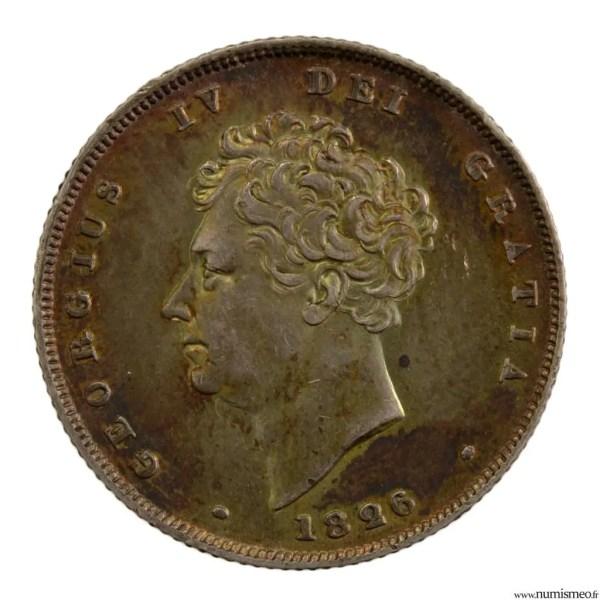 Grande Bretagne Shilling 1826