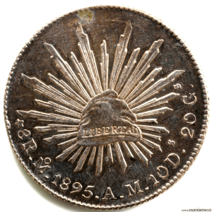 Mexique 8 reales 1895 AM