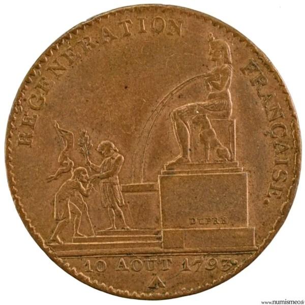 Convention 5 decimes 1793 An2