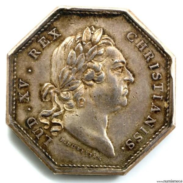 Louis XV Jeton 1773 invalides de la marine