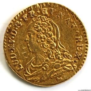 Louis XV 1/2 louis aux lunettes 1730 Limoges