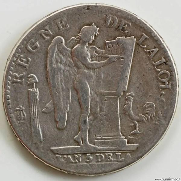 Constitution Ecu de 6 livres 1793 Paris