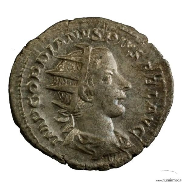 Gordien III antoninien revers TR.P.IIII.COS.II