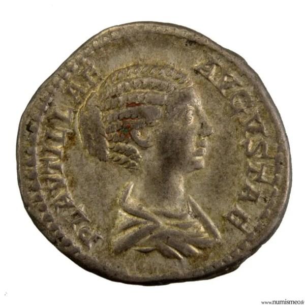 Plautilla, wife of Caracalla. AR Denarius PROPAGO IMPERI