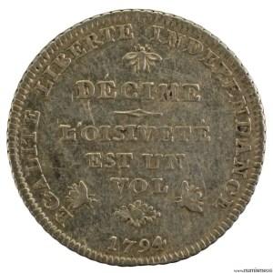 Suisse Genève Decime 1794