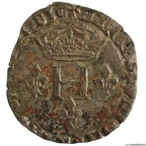 Henri III double sol parisis 2eme type 1583 Aix