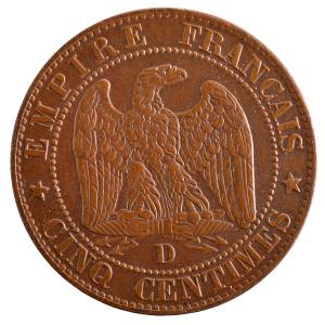 Napoleon III 5 centimes 1855 Lyon