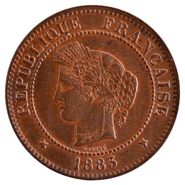 Third Republic 5 centimes Ceres 1883 Paris