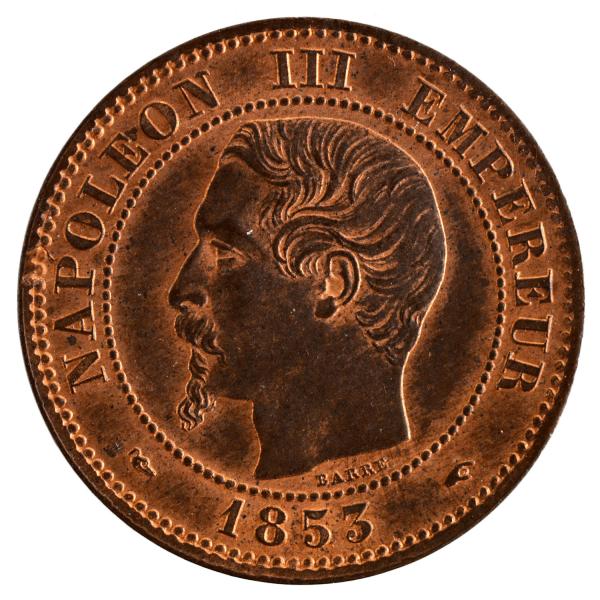 Napoleon III 2 centimes 1853 Paris