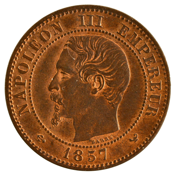 Napoleon III 2 centimes 1857 Lille