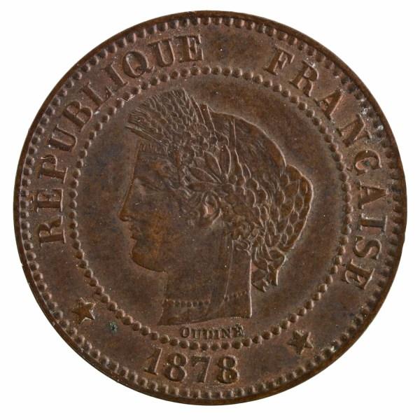 III République 2 centimes Ceres 1878 Paris