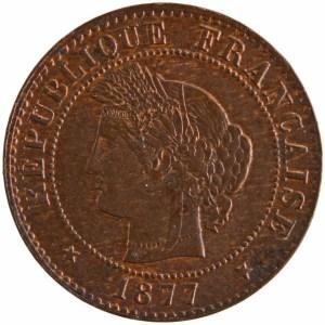 Third Republic 1 centime 1877 Paris