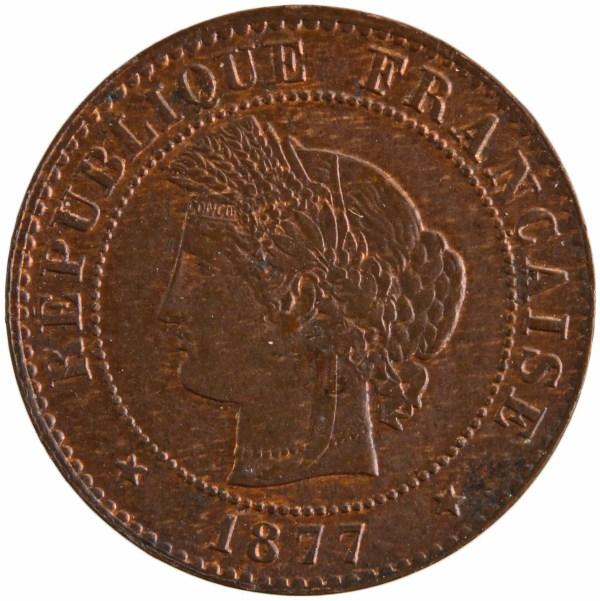 III République 1 centime 1877 Paris