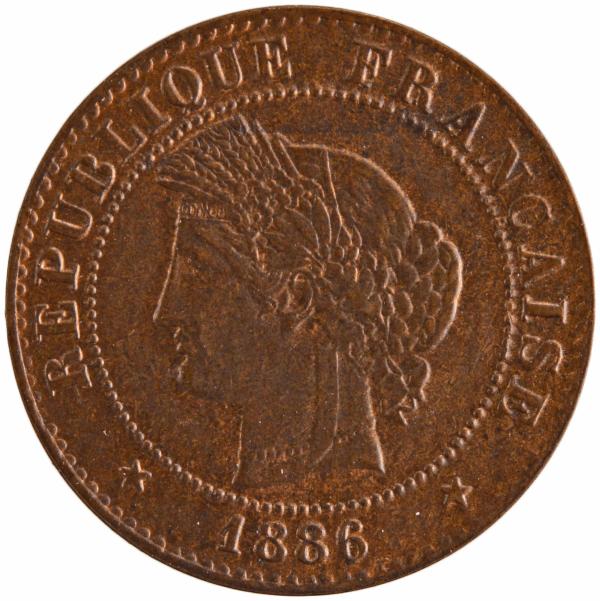 III République 1 centime 1886 Paris