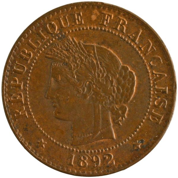III République 1 centime 1892 Paris