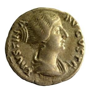 Faustine jeune denier frappé sous Antonin le Pieux
