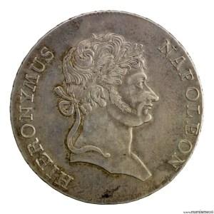 Westphalie Jerome Napoleon Thaler de convention 1813