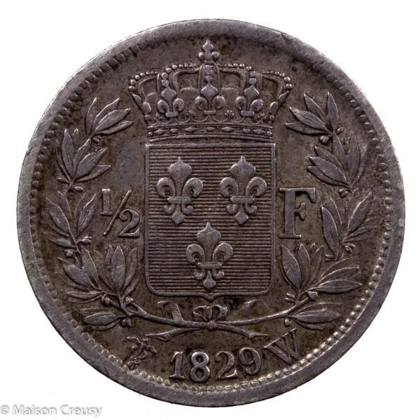 Charles X AR Demi franc 1829 Lille