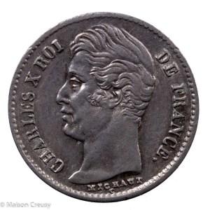 Charles X AR Quart franc 1829 Lille