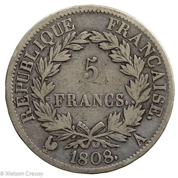 NapI-5francs1808A