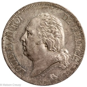 LouisXVIII-5francs1824D