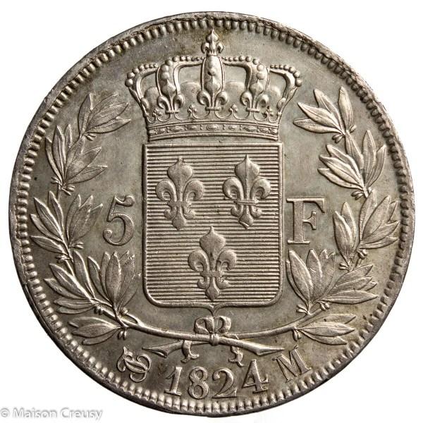 LouisXVIII-5francs1824M