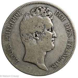 Louis Philippe 5 francs without I 1830 Rouen