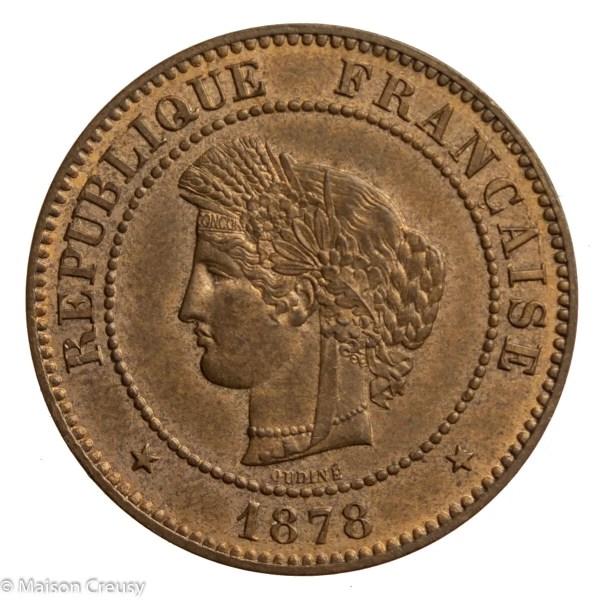 Third Republic 5 centimes 1878 Paris