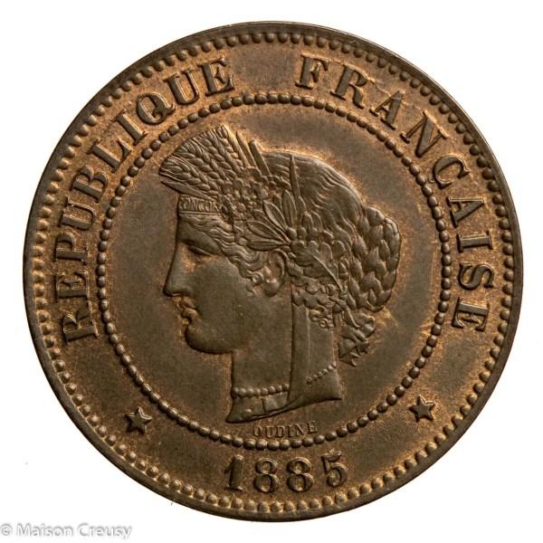 Third Republic 5 centimes Ceres 1885 Paris