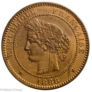 Third Republic 10 centimes 1888 Paris